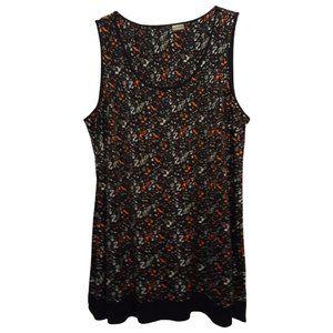 Pennington Black & Mixed Print Tunic Top X